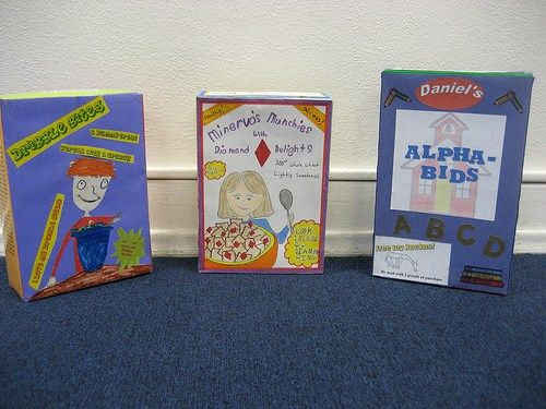 Cereal Box Project Examples  Homework Book Report Templates And
