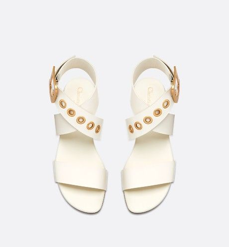 ad552236f99 D-Dior calfskin leather sandal in 2019   dior   Sandals, Leather ...