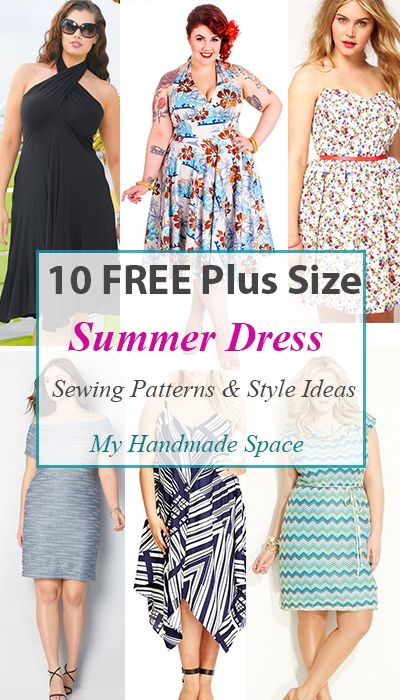 f4fe4eb1b1727 10 free pattern Plus Size Summer Dresses - I am sure these dresses can be  downsized during pattern construction  just take away inwards