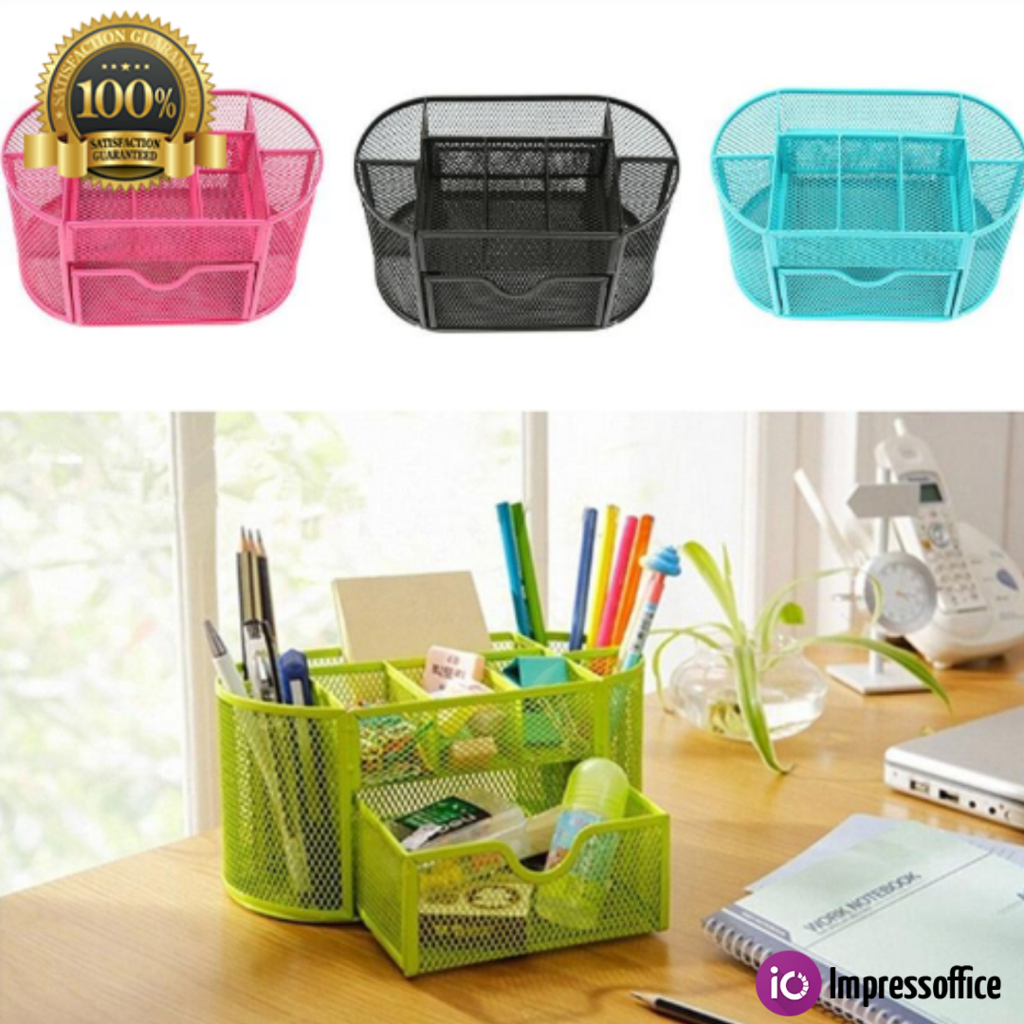Desk Decor Colorful Pattern Pen Barrel Desktop Organizer Pencil Holder