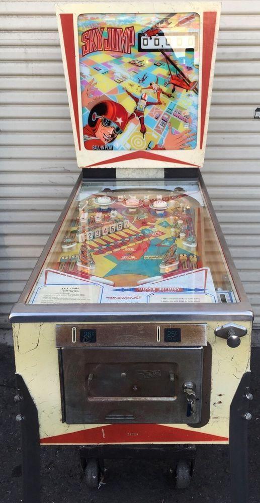 Skyjump Pinball Machine Gottlieb Electromechanical Vintage Coin Op