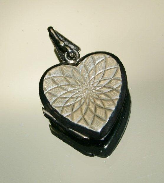 Vintage Etched Star Pattern Sterling Silver Heart by GillardAndMay