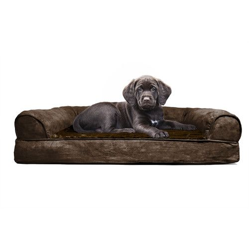 Furhaven Furhaven Plush Orthopedic Sofa Style Dog Bed You Ll Love