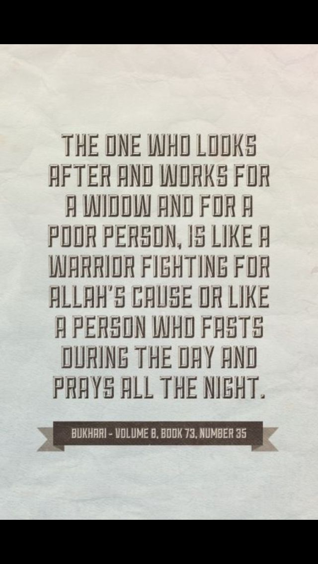 Look After Widows And Poor People