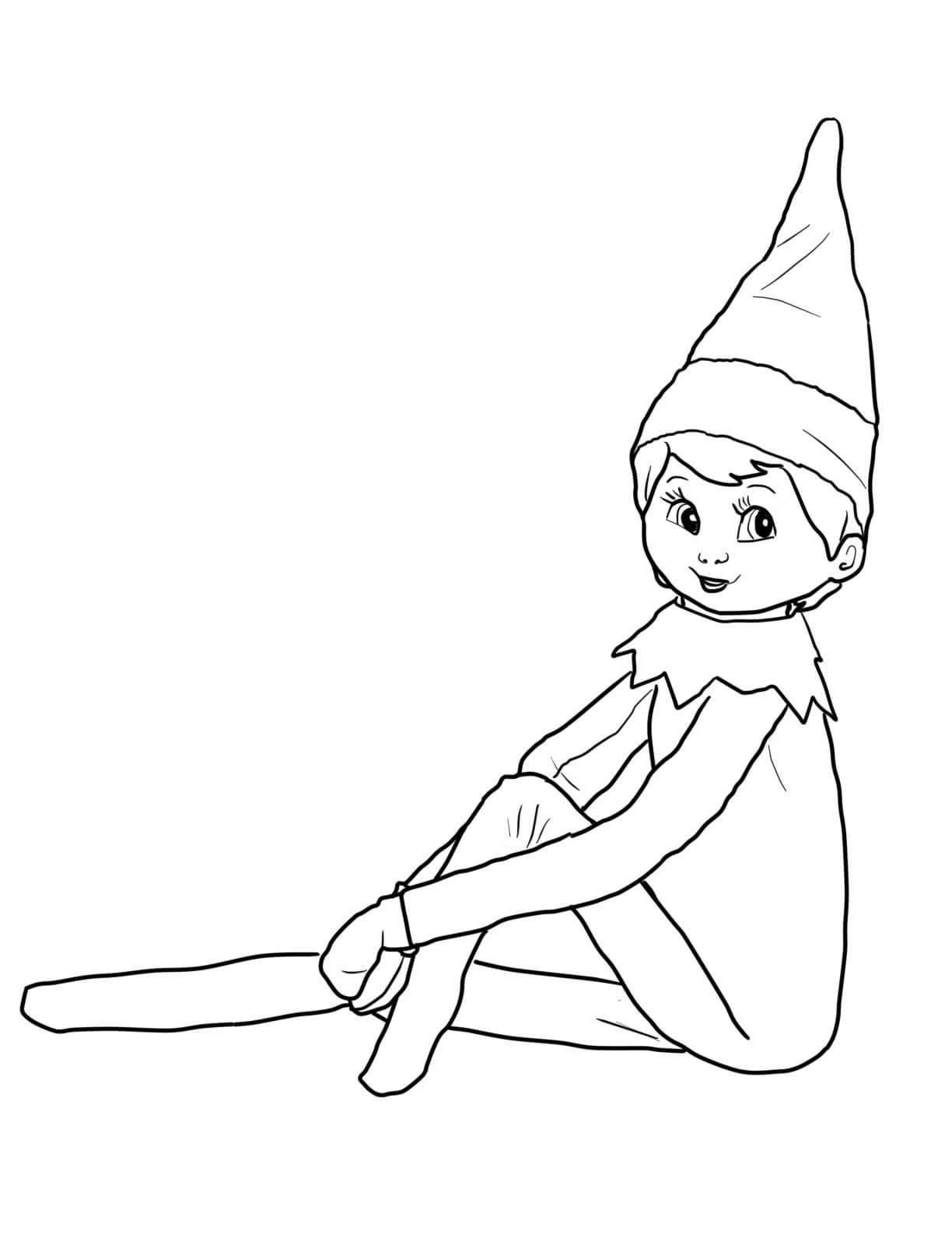 Elf On The Shelf Coloring Sheets Coloring Pages Coloring Pages