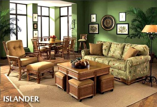 Rattan and Wicker Living Room Furniture Sets | Living Room Chairs ...