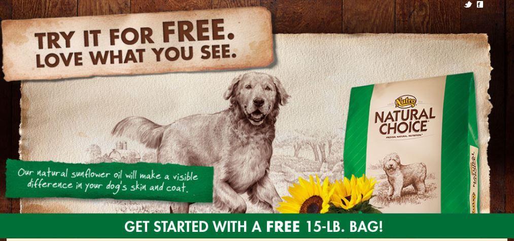 Free 15 pound bag of natural choice dog food rebate