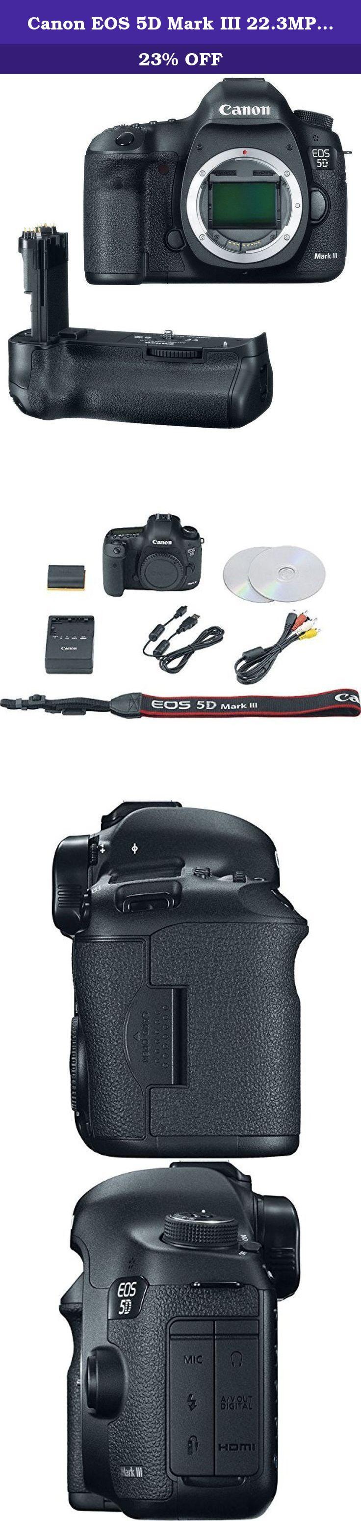 Canon EOS 5D Mark III 22.3MP Full Frame CMOS w/ 1080p Full-… | DSLR ...