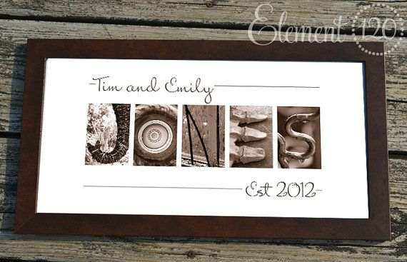 Personalized Wedding Gift for Couples, Found Art Gift, Alphabet ...