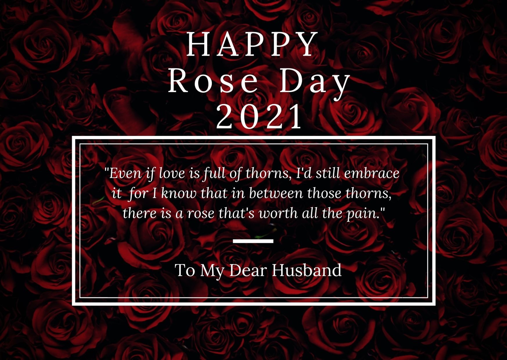Happy Rose Day 2021 Messages For Husband In 2020 Love You Husband Message For Husband Day