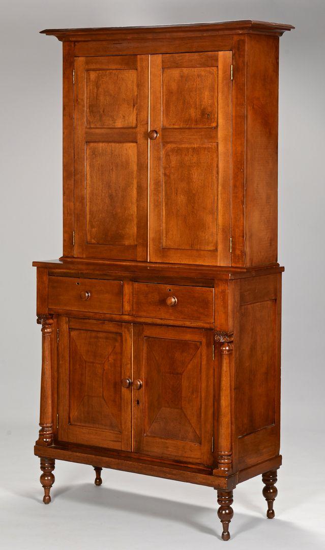 Lot 164: Kentucky Cherry Jackson Press Primitive Furniture, Primitive  Antiques, Shaker Furniture, - Lot 164: Kentucky Cherry Jackson Press Cupboards And Presses In