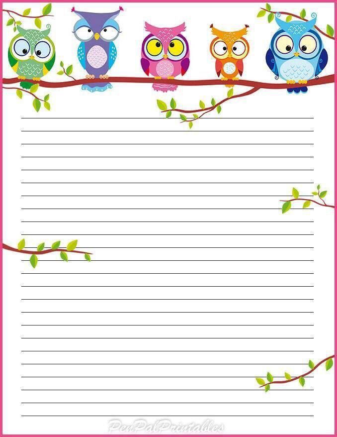 Printable star stationery and writing paper Multiple versions – Writing Paper Template with Borders