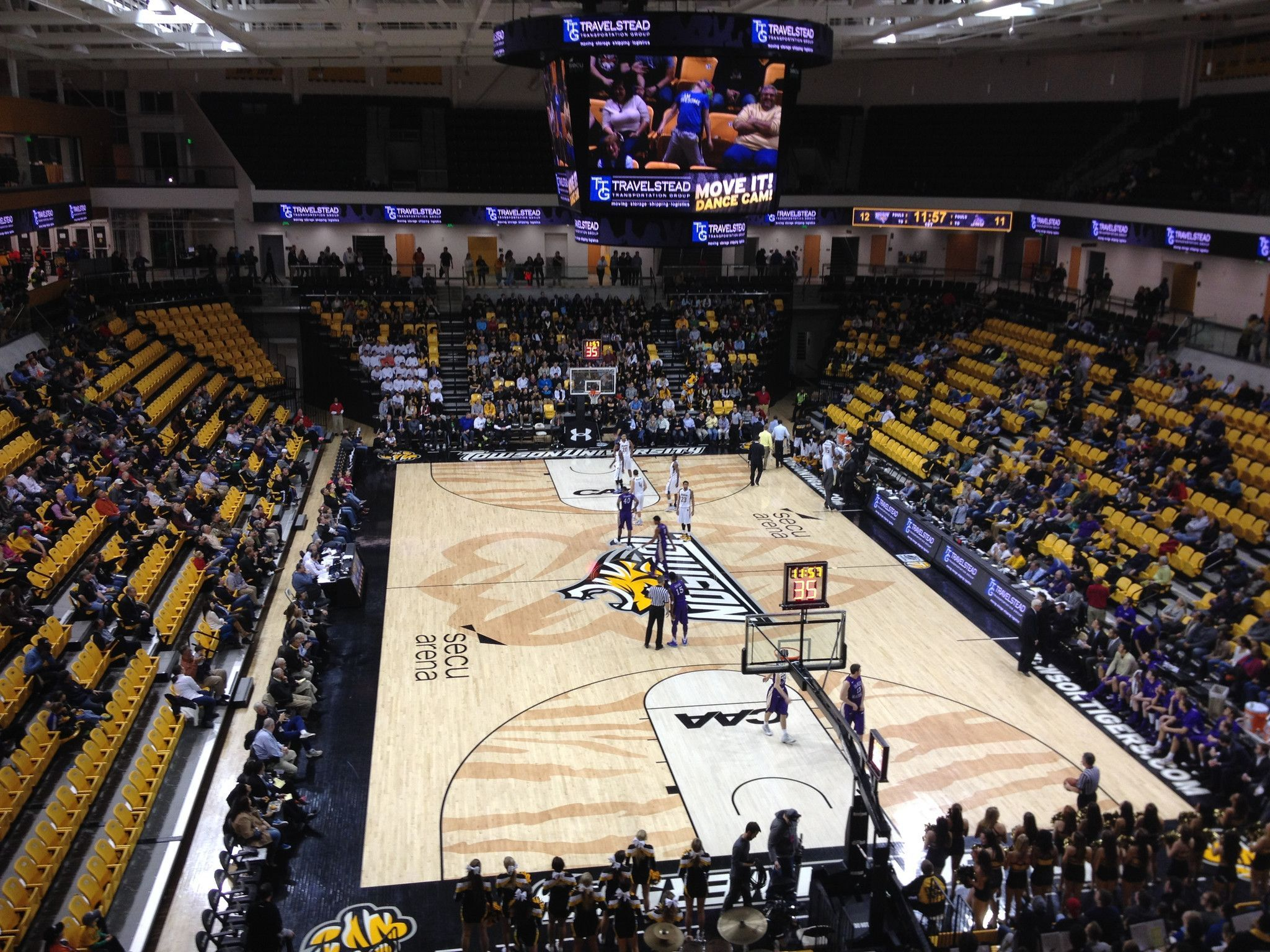 """SECU Arena Towson Tigers Basketball Paper Poster 24""""x36"""""""