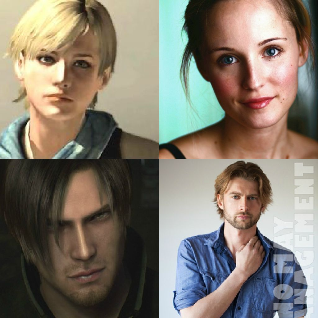 Face Models For Leon And Sherry Resident Evil Pretty Face Face