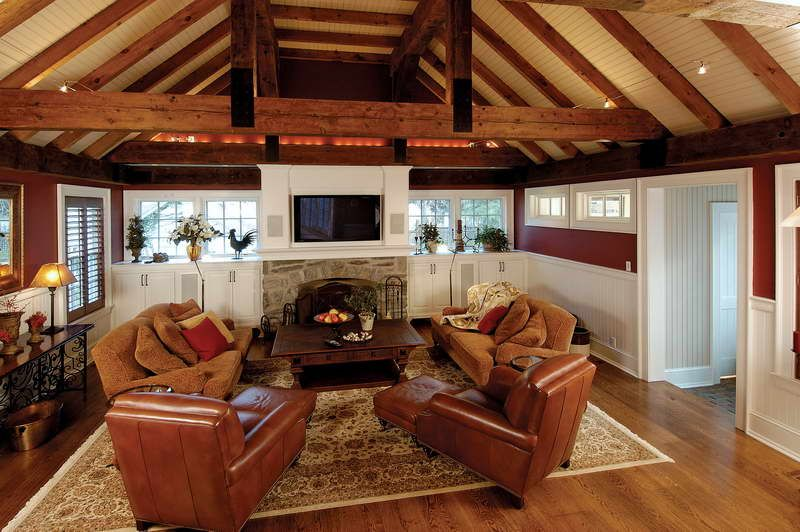 Vaulted ceiling ideas ideas for vaulted ceilings with for Living room addition ideas