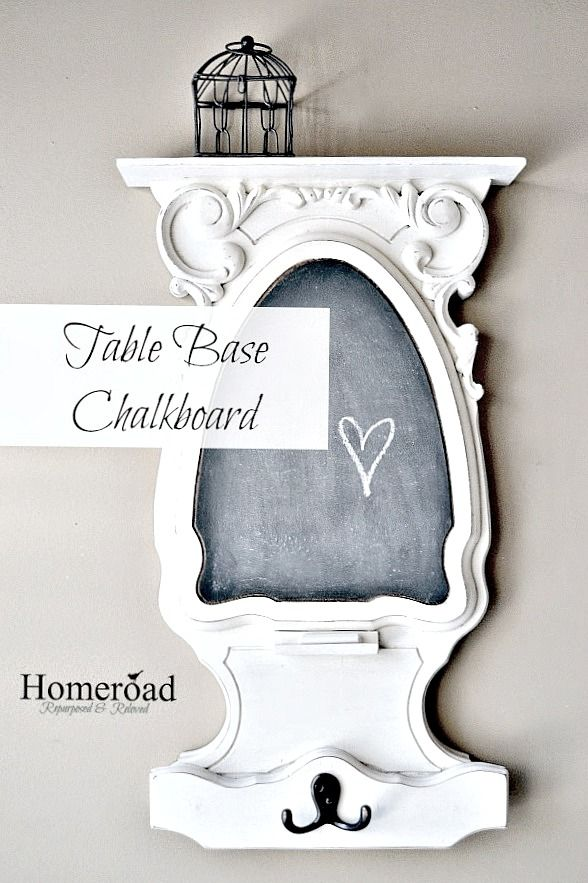 Creating an Architectural Chalkboard From a Table Base www.homeroad.net