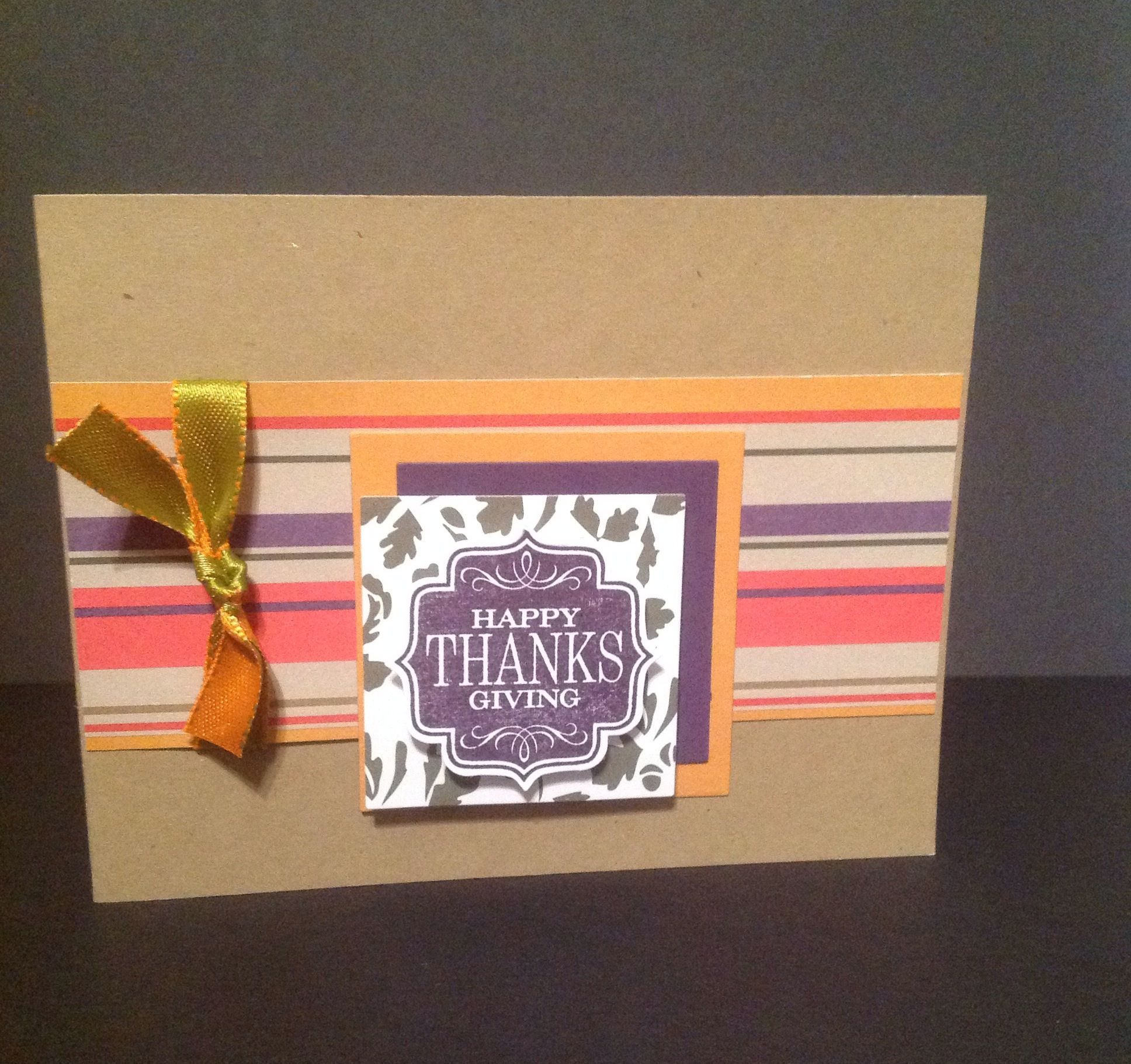 A quick Thanksgiving card made with scraps.