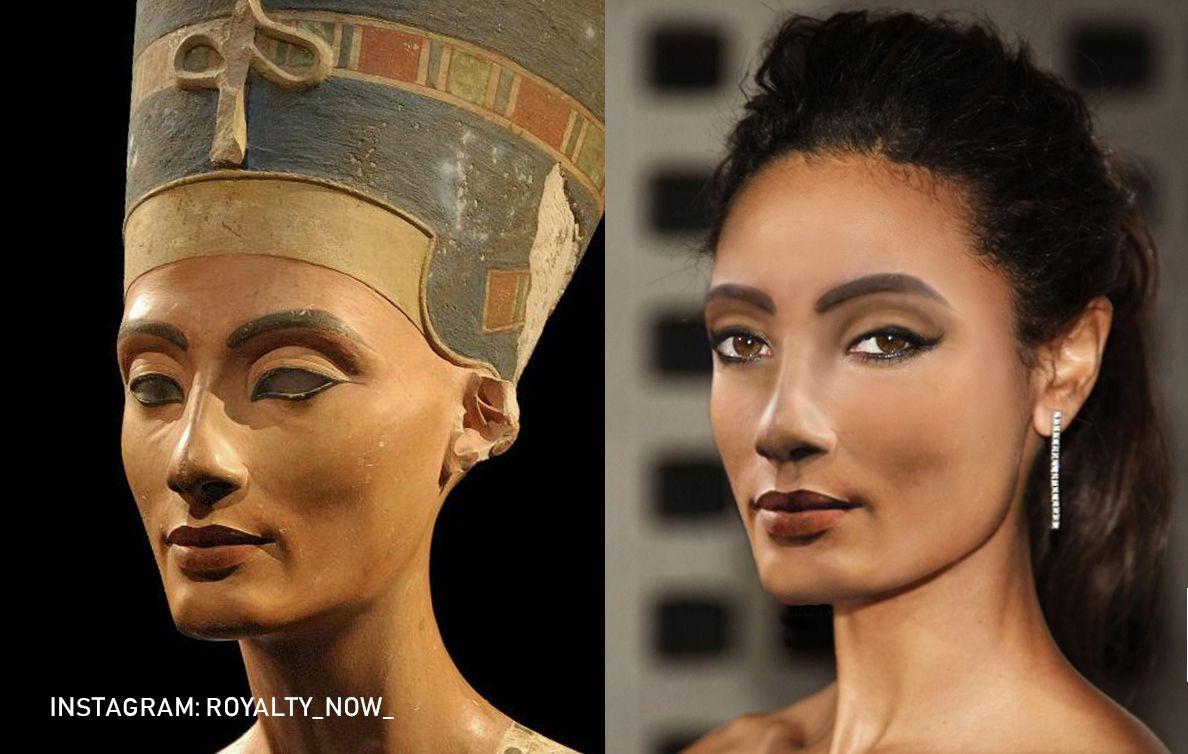 A Modern Nefertiti Portrait Famous Historical Figures Modern Portraits
