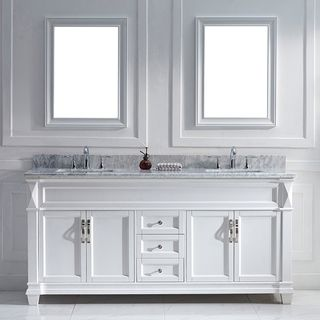 Overstock  Virtu Usa Victoria 72Inch White Double Sink Vanity Magnificent 72 Inch Bathroom Vanity Double Sink Inspiration Design