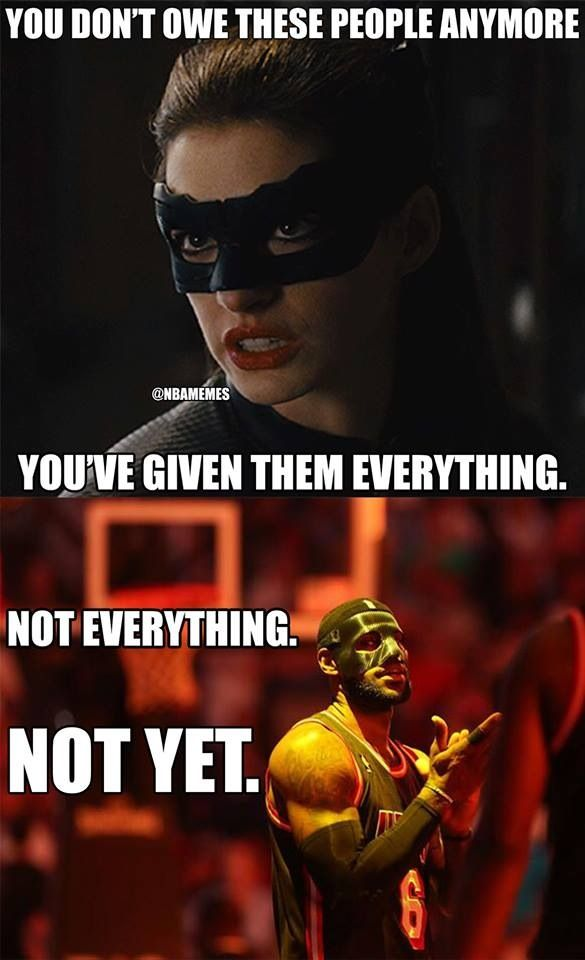 Lebron's mask memes just crack me up!