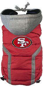 ff8eb33b6 NFL San Francisco 49ers Licensed Dog Puffer Vest Coat - S - 3X