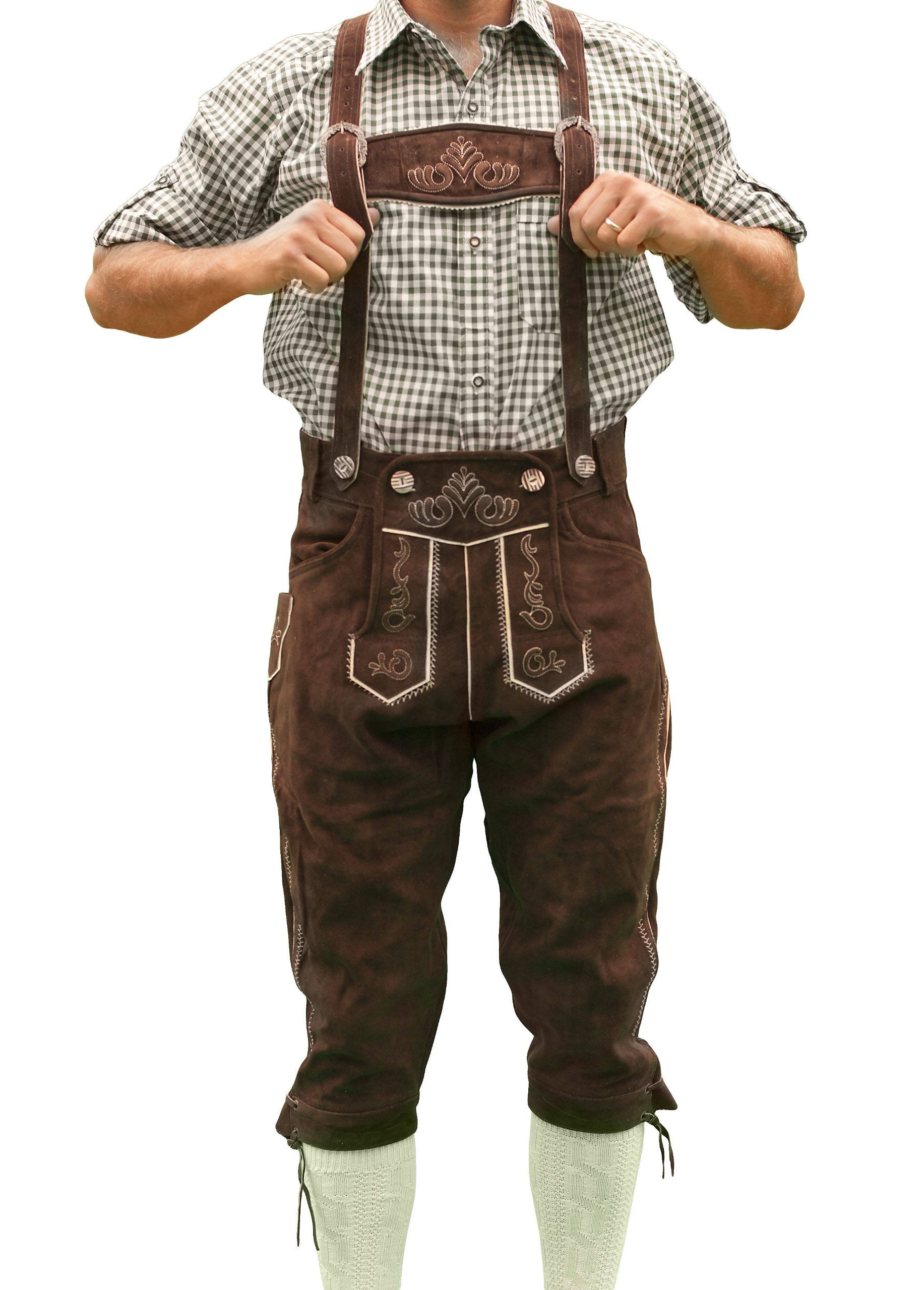 NEW MENS BAVARIAN LEDERHOSEN BLACK AUSTRIA OKTOBERFEST LEDERHOSEN ALL SIZES
