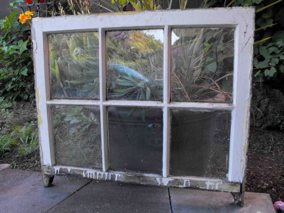 Antique Wood Window Frame for Decor or DIY by DownADifferentPath, $20.00