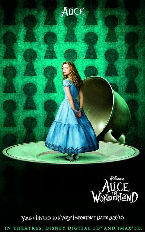 Alice In Wonderland Movie Poster Alice In Wonderland Disney Alice Adventures In Wonderland