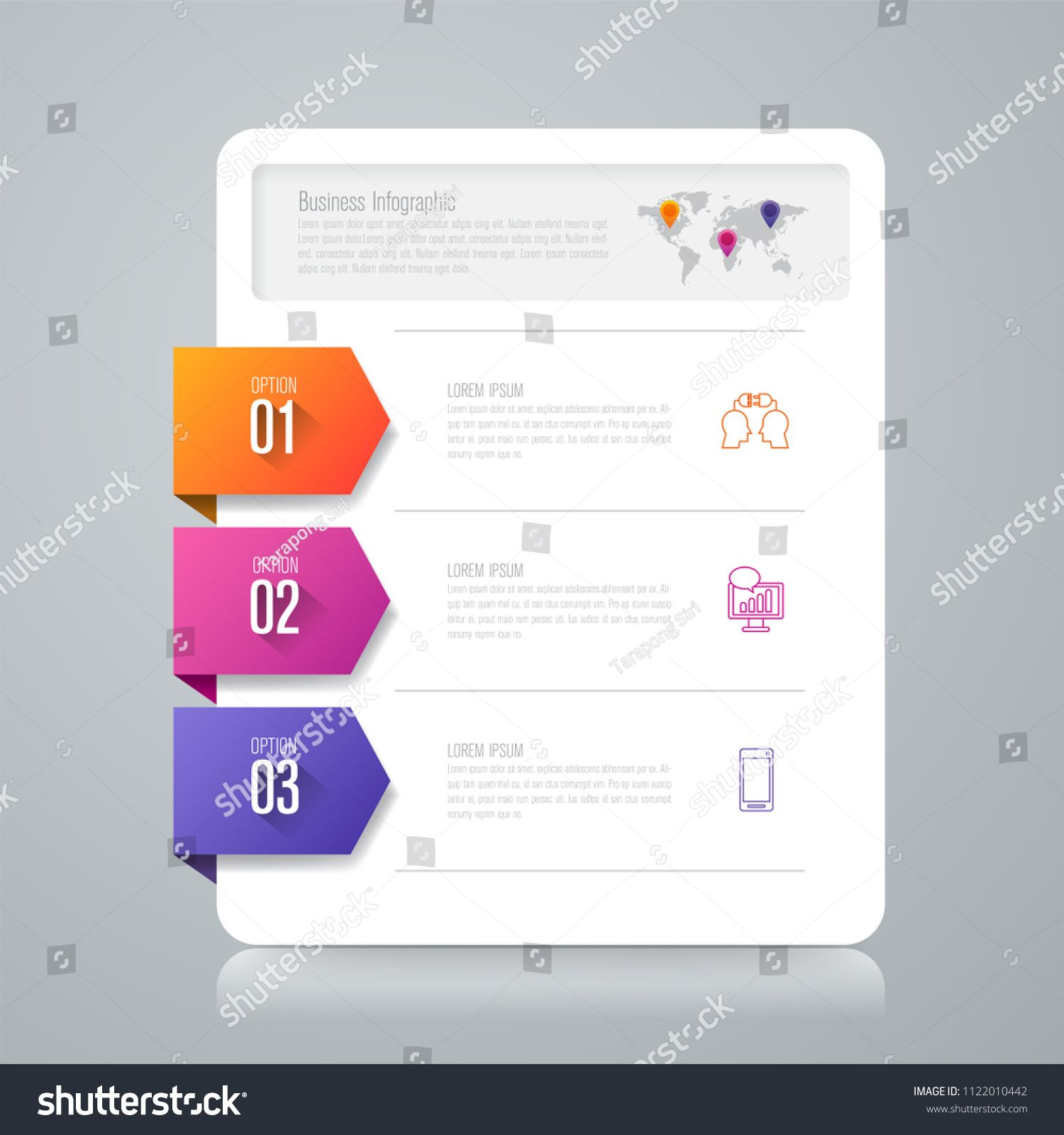 Infographics design vector and marketing icons can be used