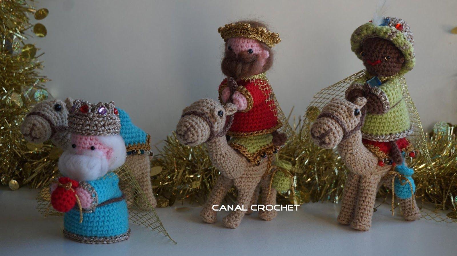 canal crochet reyes magos amigurumi patr n libre xmas. Black Bedroom Furniture Sets. Home Design Ideas