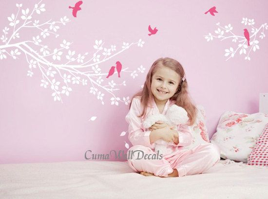 Custom OrderTree And Bird Wall Decals Nursery Wall Sticker Branch - Nursery bird wall decals