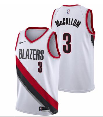 27c523bad Men 3 C J McCollum Jersey White Portland Trail Blazers Swingman Fanatics