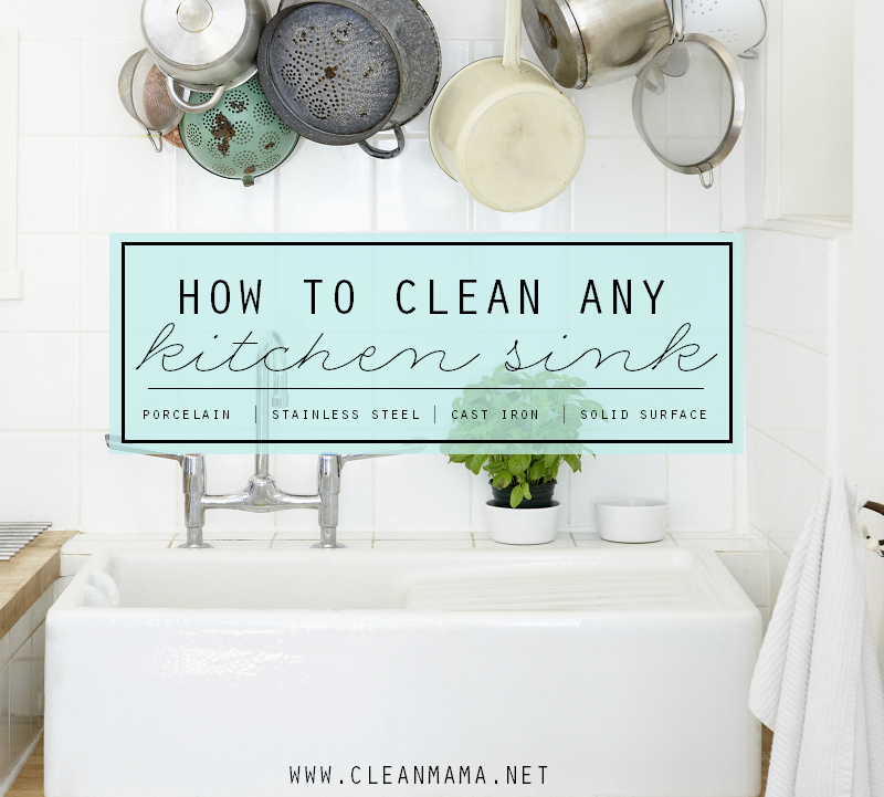 How To Clean Any Kitchen Sink