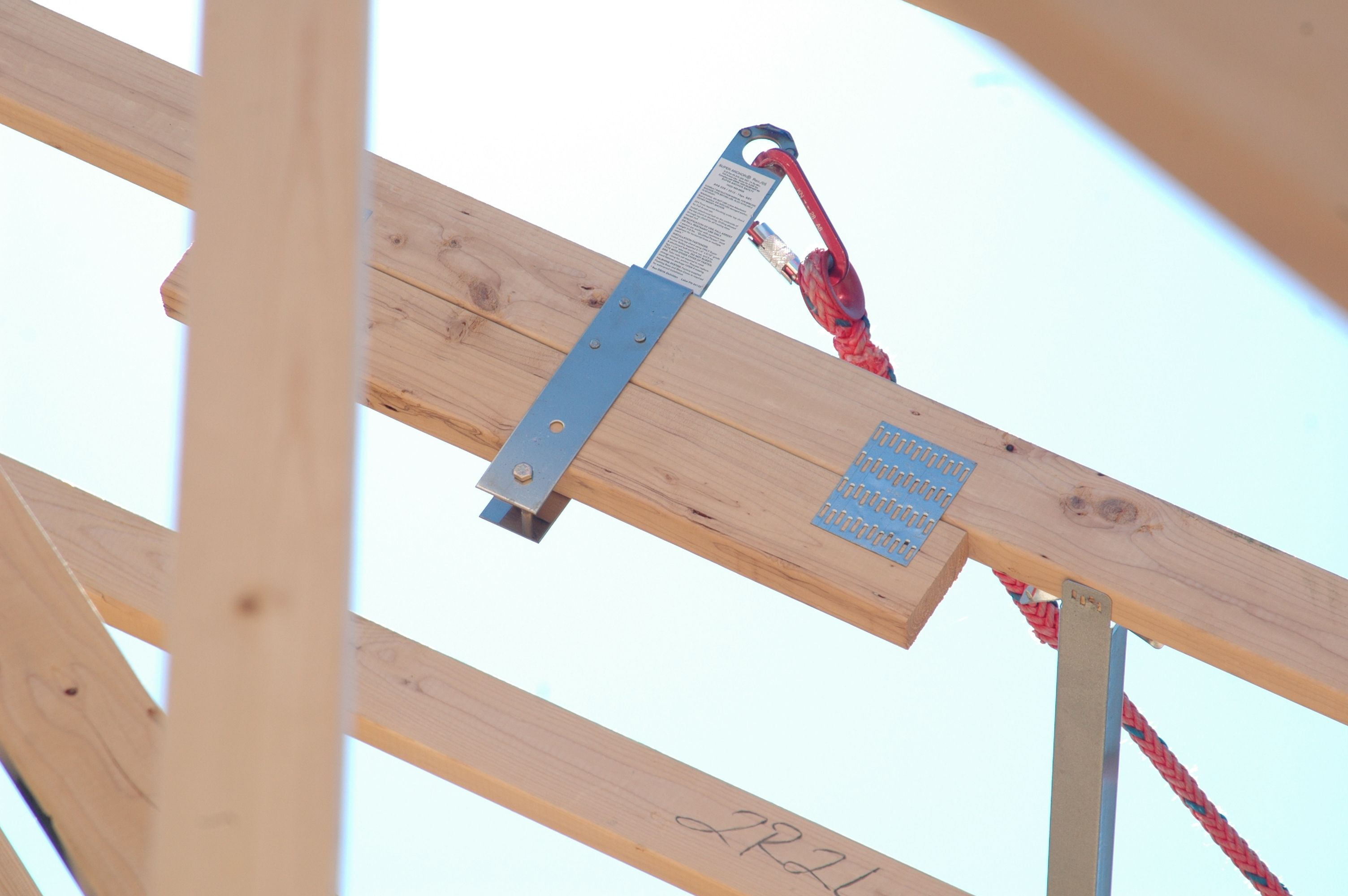 Ars 2x8 Permanent Roof Safety Anchor Installed During The Framing Of A Home Anchor Design Installation Home