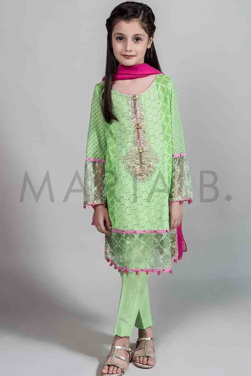 New mint green embroidered shirt with shocking pink ...