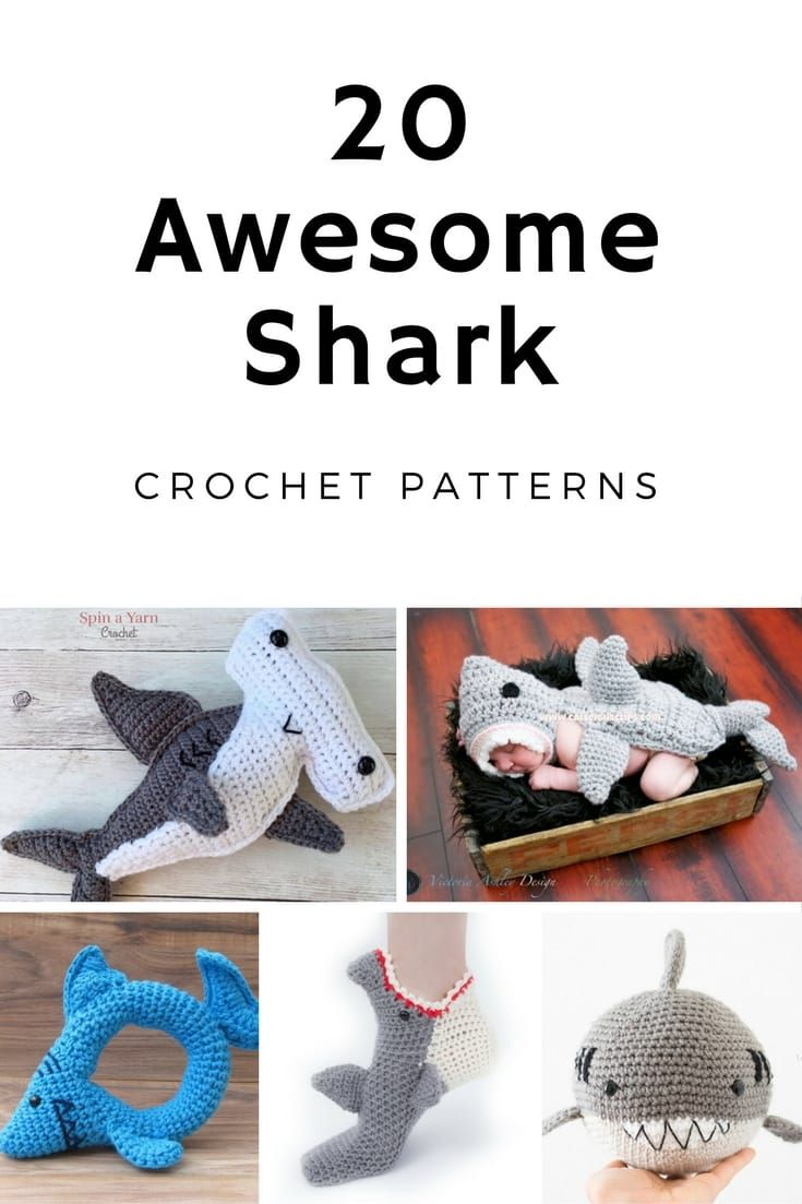 Awesome Shark Crochet Patterns | Tejido