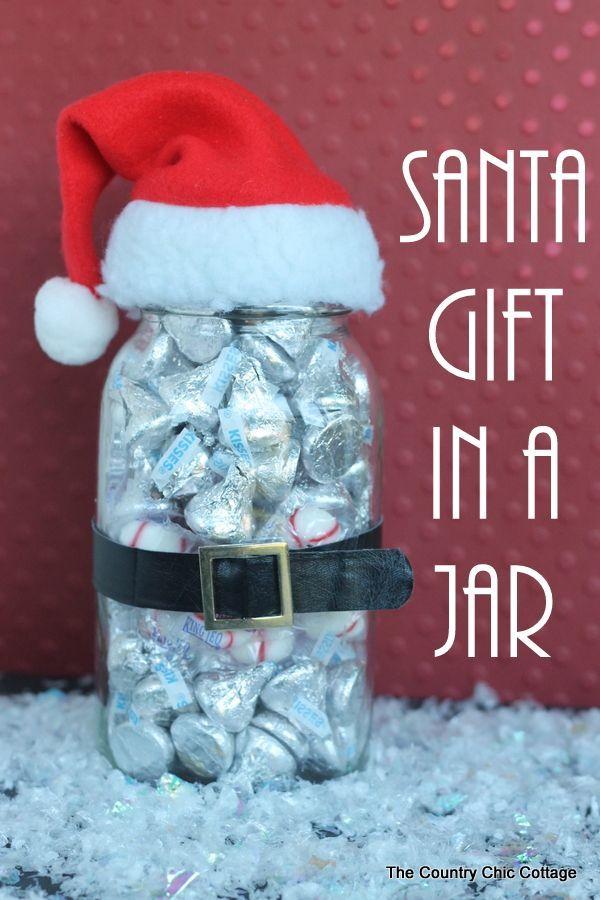 Santa Gift in a Jar | Pinterest | Weihnachten