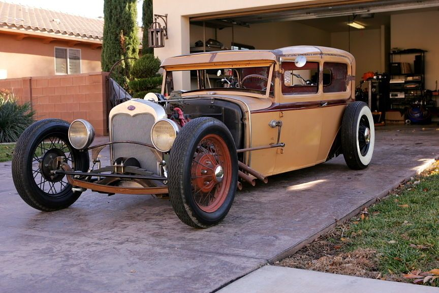930 Ford Model A Tudor Sedan Hot Rod, Rat Rod, Traditional ...