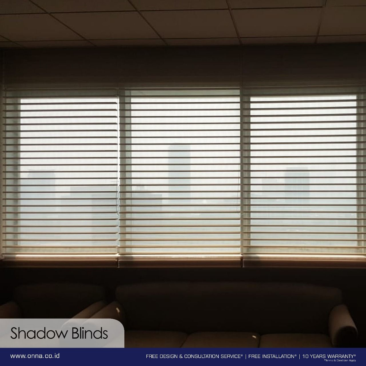 Shadow Blinds Is A Combination Of Horizontal And Roller Blinds