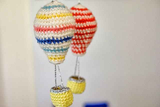 Crochet Hot Air Balloons From Greedy for Colour: