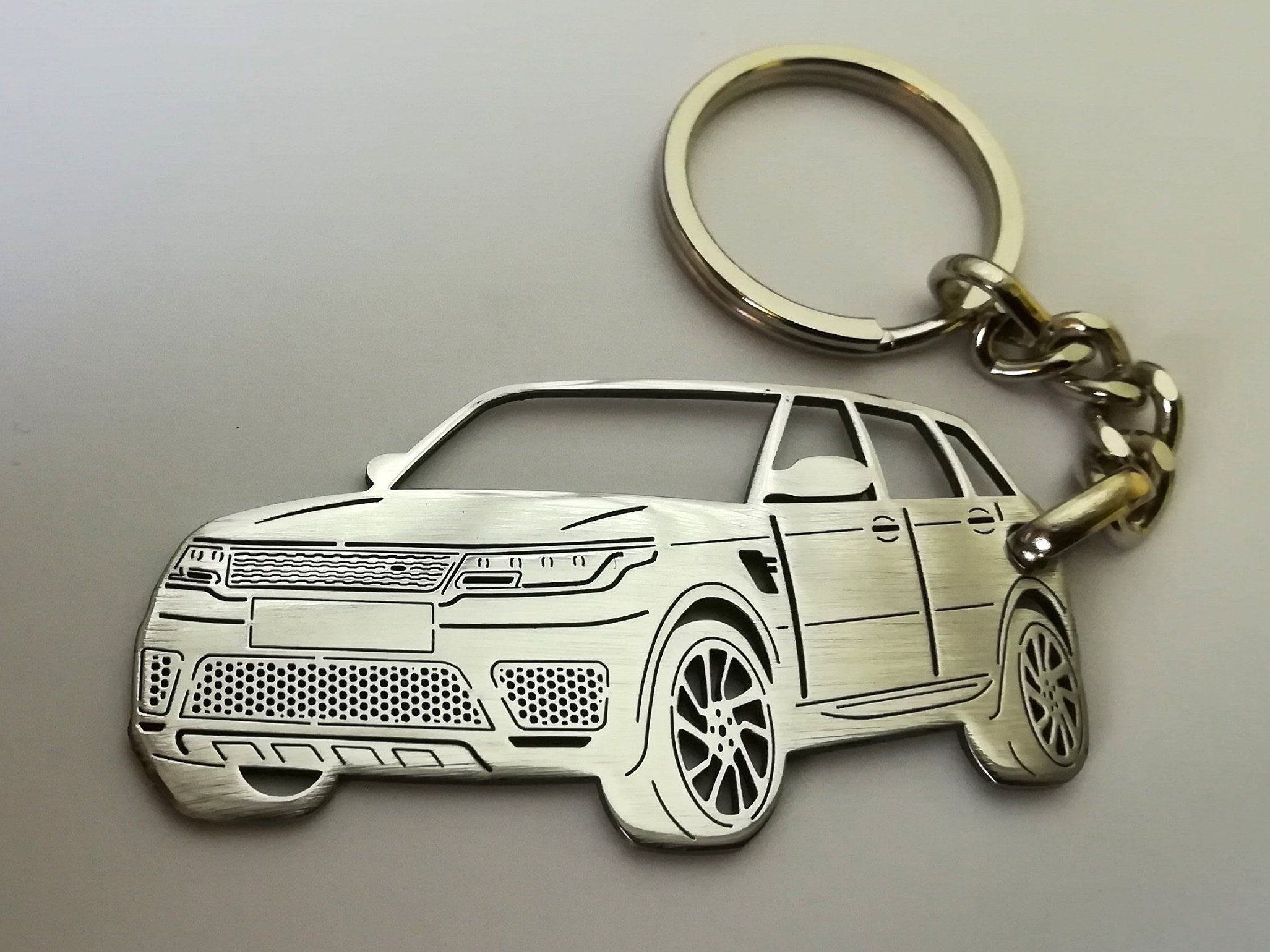Custom Land Rover Keychain Range Rover Land Rover Personalized Gift Stainless Steel Keyring Personalised Keyring Boyf Range Rover Land Rover Car Keychain