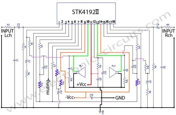 Astounding Stk4192 Stereo Power Amplifier Circuit Diagram Amplifiers En 2019 Wiring Cloud Hisonuggs Outletorg