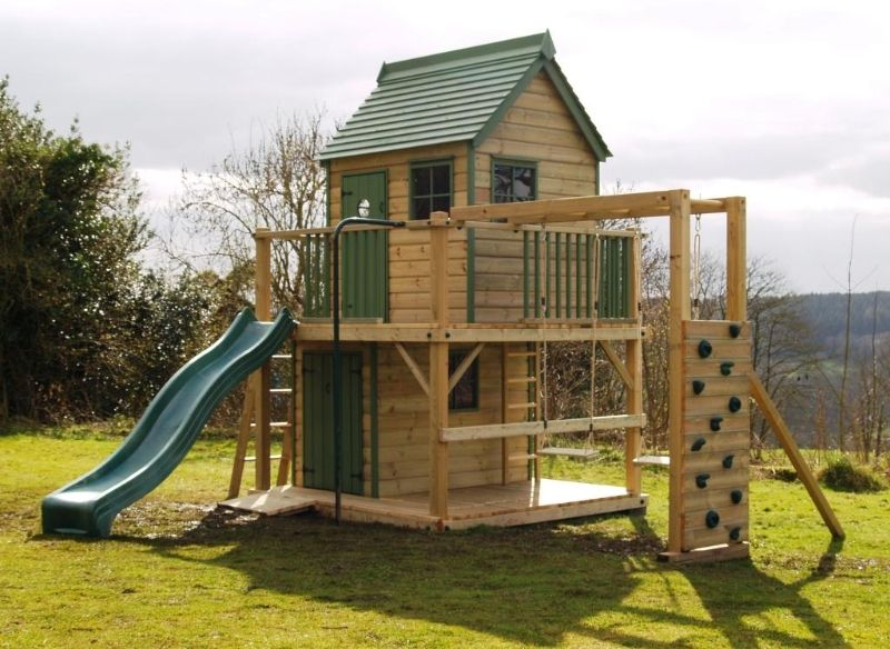 Kids Treehouse With Slide Images