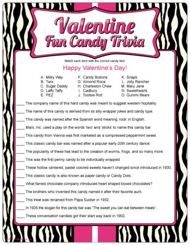 Name That Candy Bar Game Party ideas Valentines, Valentine\u0027s day