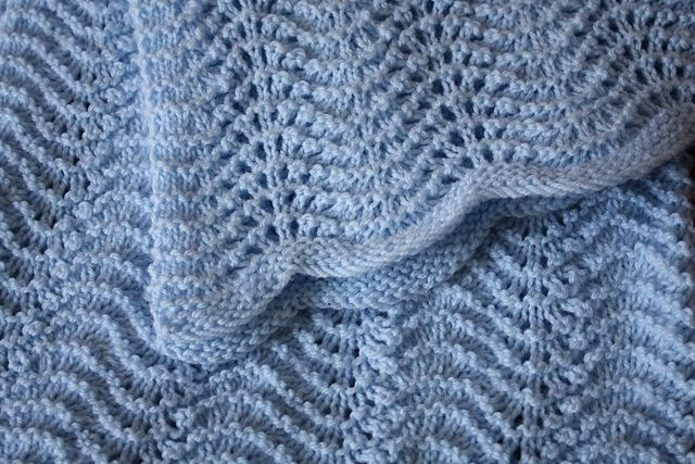 Feather and Fan Baby Blanket pattern by Darilyn Page | Knit