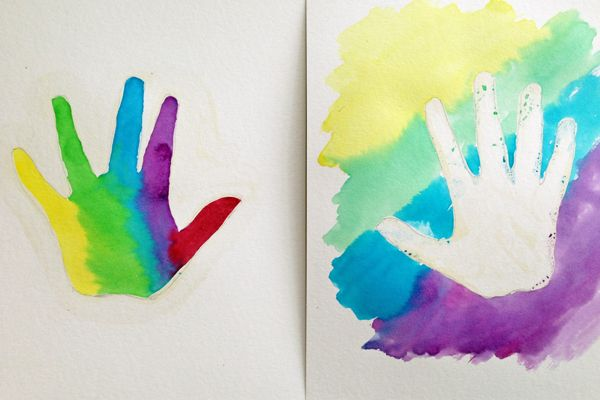How To Make Watercolor Handprints Craft Activities For Kids Art