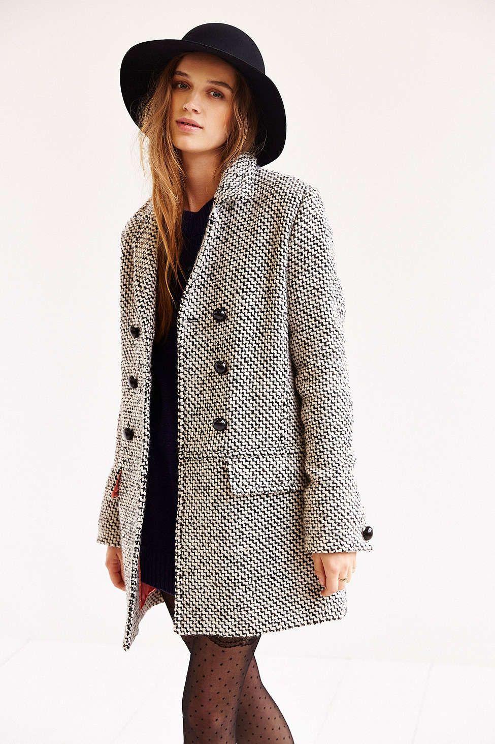 Edith & Ella Mod Pea Coat | FASHION | Fashion, Fall outfits, Autumn fashion