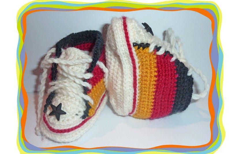 ♥ Baby Schuhe Turnschuhe Fußball Deutschland ♥ von