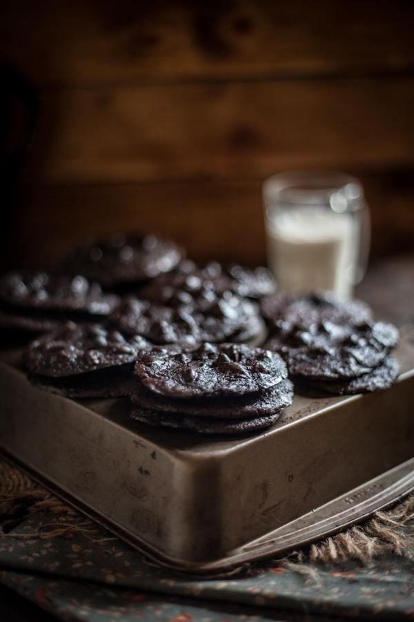 Flourless Chocolate Cookies via Adventures in Cooking #recipe