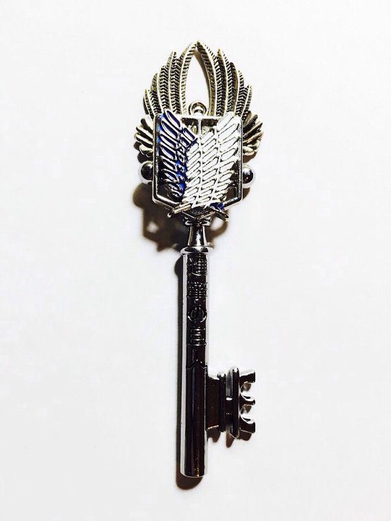Scouting Legion Attack on Titan key necklace by PrincessSongbirds